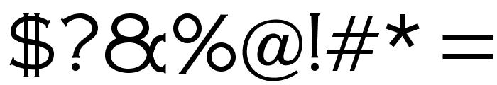 OPTIAmericanGothic-Light Font OTHER CHARS