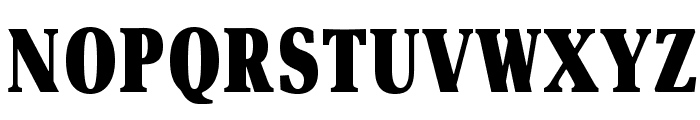 OPTIAsterAd-BlackExtraCond Font UPPERCASE