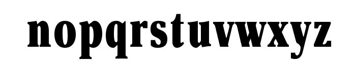 OPTIAsterAd-BlackExtraCond Font LOWERCASE
