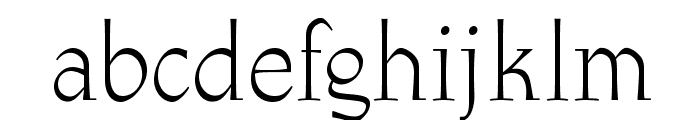 OPTIAthenaeum-Regular Font LOWERCASE