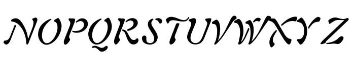 OPTIAura-Italic Font UPPERCASE