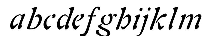 OPTIAura-Italic Font LOWERCASE