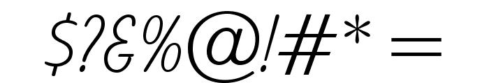 OPTIBalloon-Light Font OTHER CHARS