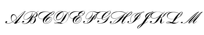OPTIBank-Script Font UPPERCASE