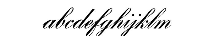 OPTIBank-Script Font LOWERCASE