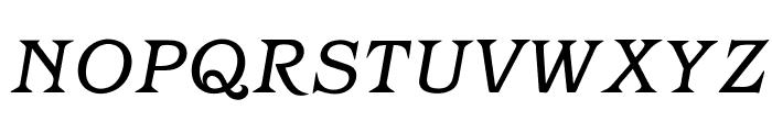 OPTIBarMay-BookItalic Font UPPERCASE