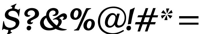 OPTIBarMay-MediumItalic Font OTHER CHARS