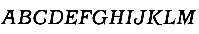 OPTIBarMay-MediumItalic Font UPPERCASE