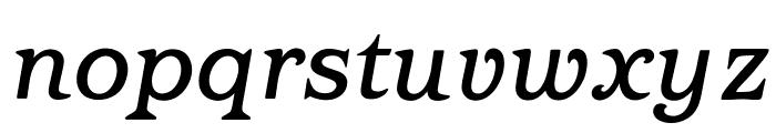OPTIBarMay-MediumItalic Font LOWERCASE