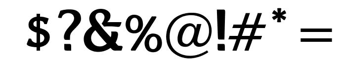 OPTIBari-Medium Font OTHER CHARS