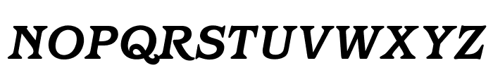 OPTIBarmay-BoldItalic Font UPPERCASE