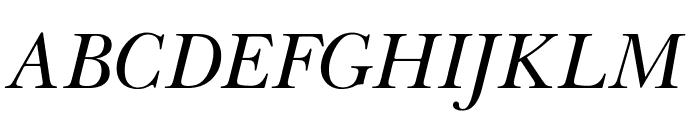 OPTIBaskerVille-Italic Font UPPERCASE