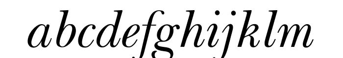 OPTIBaskerVille-Italic Font LOWERCASE