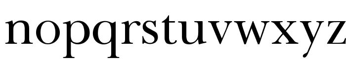 OPTIBaskerVille Font LOWERCASE