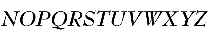 OPTIBenjieModern-BoldIta Font UPPERCASE