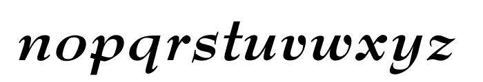 OPTIBenjieModern-BoldIta Font LOWERCASE