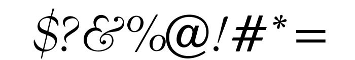 OPTIBenjieModern-Italic Font OTHER CHARS