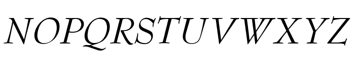 OPTIBenjieModern-Italic Font UPPERCASE