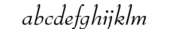 OPTIBenjieModern-Italic Font LOWERCASE