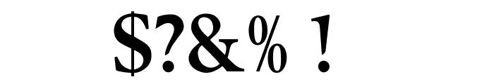 OPTIBerlingSemiBoldAgency Font OTHER CHARS