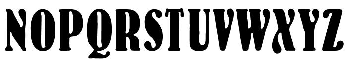 OPTIBernHard-BoldCondensed Font UPPERCASE