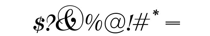 OPTIBernhard-BoldCursive Font OTHER CHARS