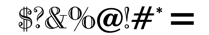 OPTIBodoni-Open Font OTHER CHARS