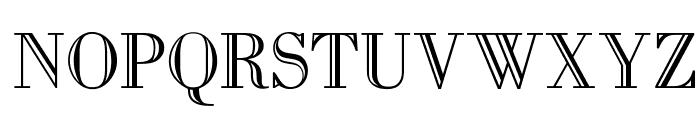 OPTIBodoni-Open Font UPPERCASE