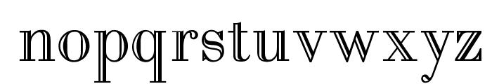 OPTIBodoni-Open Font LOWERCASE