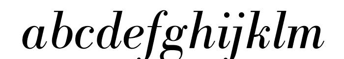 OPTIBodoniAntiqua-Italic Font LOWERCASE