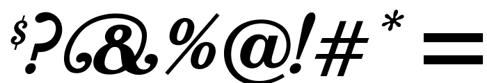 OPTIBookmanBoldItaSwashSup Font OTHER CHARS