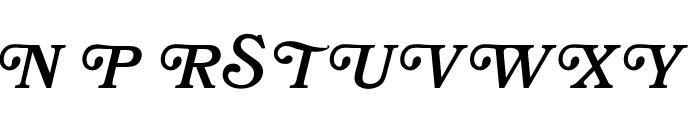 OPTIBookmanBoldItaSwashSup Font UPPERCASE