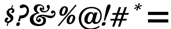OPTIBookmanBoldItalicSwash Font OTHER CHARS