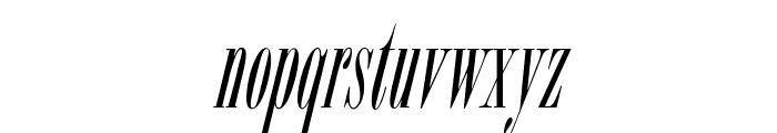 OPTIBorDen-Italic Font LOWERCASE