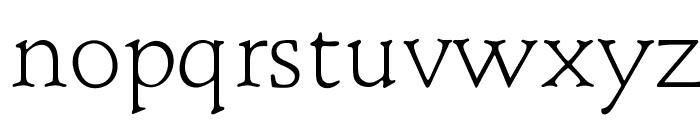 OPTIBriteText-Light Font LOWERCASE