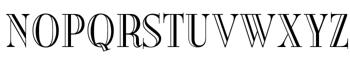 OPTIBurley Font UPPERCASE