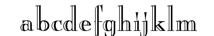 OPTIBurley Font LOWERCASE