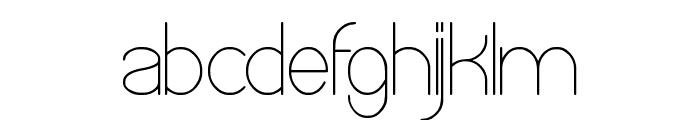 OPTICAL FIBER Font LOWERCASE