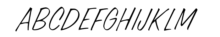 OPTICandid-Ballpoint Font UPPERCASE