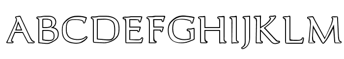 OPTICantorRoman-Outline Font UPPERCASE