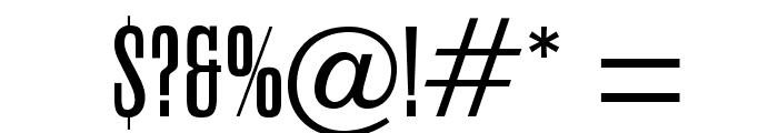 OPTICarmiFive-Caps Font OTHER CHARS
