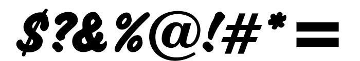 OPTICashew-ExtraBold Font OTHER CHARS