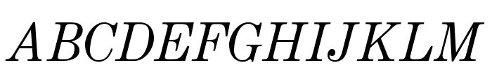 OPTICenturyExpandedTwo-Italic Font UPPERCASE