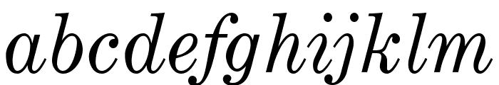 OPTICenturyExpandedTwo-Italic Font LOWERCASE