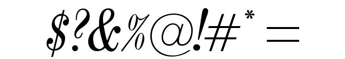 OPTICenturyNova-Italic Font OTHER CHARS