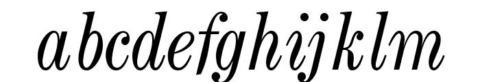 OPTICenturyNova-Italic Font LOWERCASE