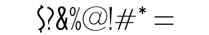 OPTICivet-LiteCondensed Font OTHER CHARS