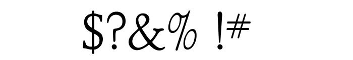 OPTIClementeLightAd Font OTHER CHARS
