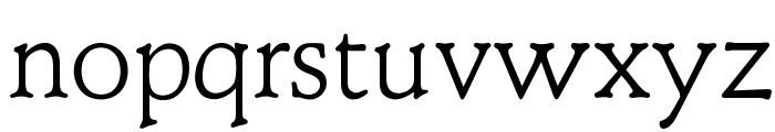 OPTIClementeLightAd Font LOWERCASE