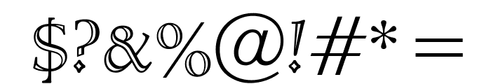 OPTICloister-OpenFace Font OTHER CHARS